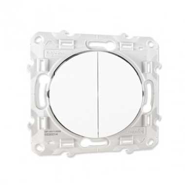SCHNEIDER Odace Interrupteur double va et vient blanc - S520214