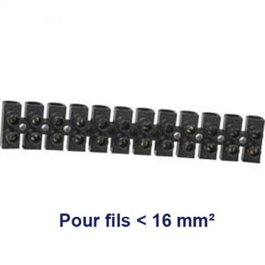 Barrette de connexion avec 12 plots de 16mm²