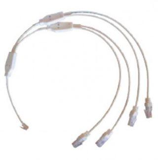 Cordon de brassage quadruple téléphone / RJ45