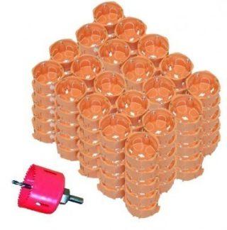 CAPRI Capriclips 250 boites encastrement simples pour cloison sèche D67 P40 + scie cloche -CAP731250
