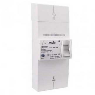 ITRON Disjoncteur d'abonné monophasé 15/45A 500mA différentiel instantané