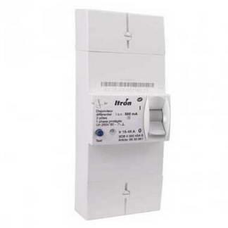 ITRON Disjoncteur d'abonné monophasé 15/45A 500MA différentiel sélectif