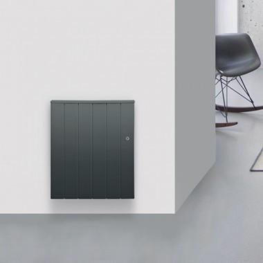 CHAUFELEC Manon Radiateur à inertie réfractite horizontal gris 1000W - BJN2223FTHS
