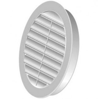 DMO Grille PVC universelle encastrable 100mm blanc - 010607