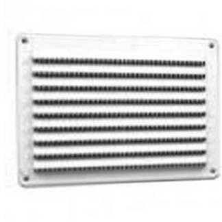 DMO Grille PVC extérieure en applique à visser 150x200mm blanc - 010609