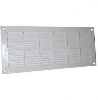 DMO Grille PVC plate à visser pour menuiserie 337x131mm blanc - 010651