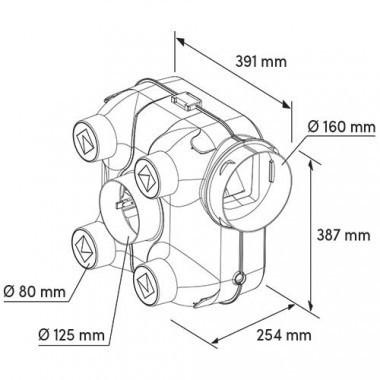 DMO Kit VMC simple flux hygrovariable Fast'Air HV - 555080