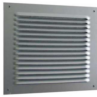 DMO Grille métal carrée à auvent 190x190mm alu - 87009