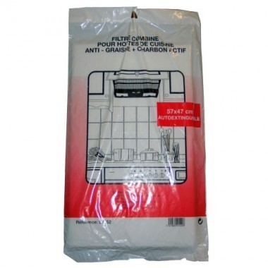 Lot de 2 filtres à charbon noir anti-odeur pour hotte de cuisine