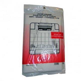Lot de 2 filtres anti-graisse et anti-odeur pour hotte de cuisine