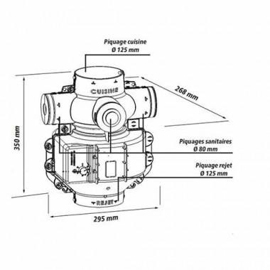 DMO Kit VMC simple flux autoréglable Air Axial - 94511