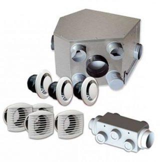 DMO Kit VMC double flux métallique AIR 2 Compact haut rendement - 94711