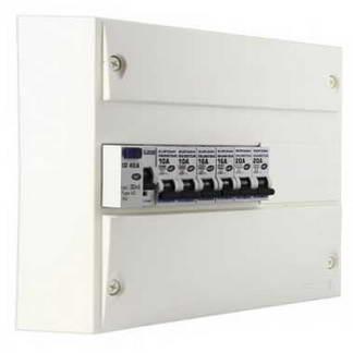 EUROHM Tableau électrique prééquipé 1 rangée 1ID 40A 6 disjoncteurs