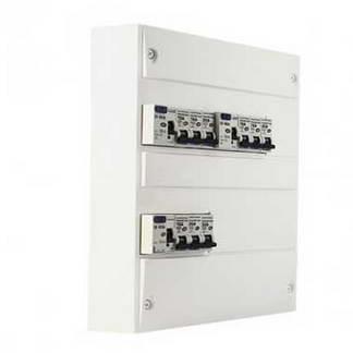 EUROHM Tableau électrique prééquipé 2 rangées 3ID 40A 9 disjoncteurs