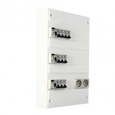 EUROHM Tableau électrique prééquipé 3 rangées 3ID 40A 10 disjoncteurs