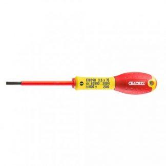 Expert by FACOM Tournevis plat isolé 1000V fente électricien 3,5x75mm - E165411