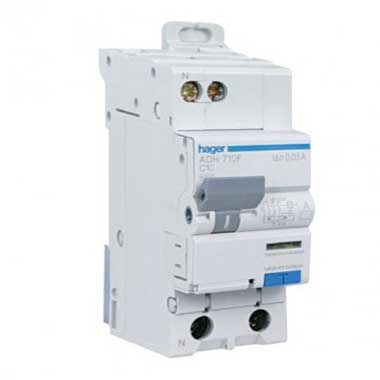 HAGER Disjoncteur différentiel 10A 30mA type AC 230V - ADC710F