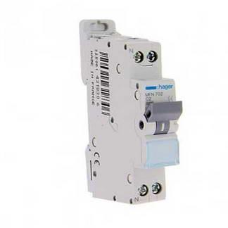 HAGER Disjoncteur 2A Ph+N courbe C 3kA 230V - MFN702