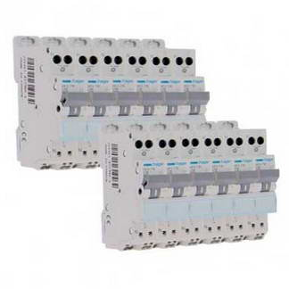 HAGER Lot de 12 disjoncteurs 16A auto Ph+N calibre C 3kA 230V - MFS716