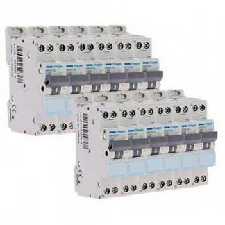 HAGER Lot de 12 disjoncteurs 20A Ph+N calibre C 3kA 230V - MFN720