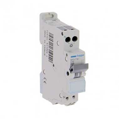 HAGER Disjoncteur 10A auto Ph+N courbe C 3kA 230V - MFS710