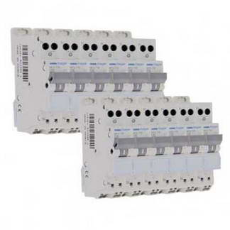 HAGER Lot de 12 disjoncteurs 10A auto Ph+N calibre C 3kA 230V - MFS710