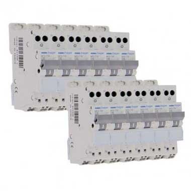 HAGER Lot de 12 disjoncteurs 10A auto Ph+N calibre C 3kA 230V - MFS710