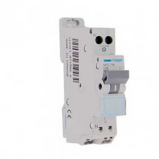 HAGER Disjoncteur 16A auto Ph+N calibre C 3kA 230V - MFS716