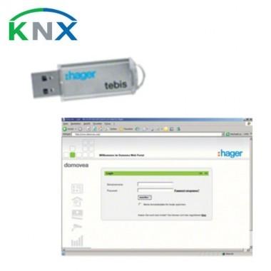 HAGER KNX Clé d'accès à distance pour serveur IP Domovea - TJ550