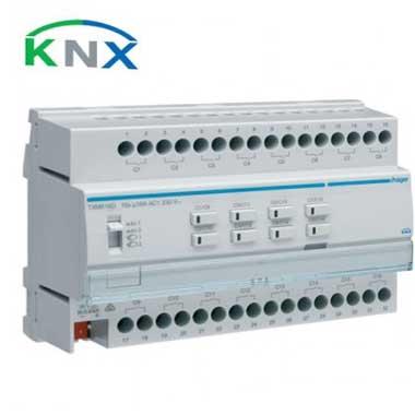 HAGER KNX Actionneur de commutation 16 sorties multifonctions 16A - TXM616D