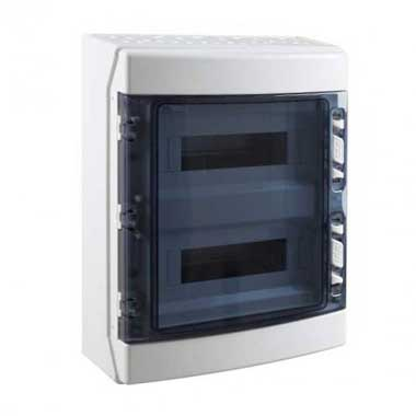 IDE Tableau électrique étanche 2 rangées de 12 modules IP65 - CDN24PT/RR