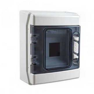 IDE Tableau électrique étanche 1 rangée de 4 modules IP65 - CDN4PT/RR