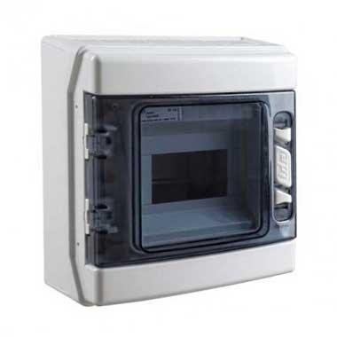 IDE Tableau électrique étanche 1 rangée de 6 modules IP65 - CDN6PT/RR