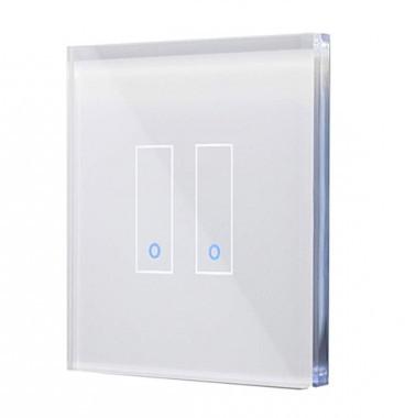 IOTTY Interrupteur double connecté tactile WIFI en verre blanc - LSWE22W