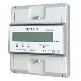 KETLER Compteur d'énergie 80A tétrapolaire - KE8004
