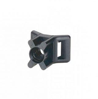 LEGRAND Colson Embase à visser avec cheville D5mm noire - 100 pièces - 031950