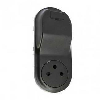 LEGRAND Céliane Enjoliveur prise de courant + chargeur USB graphite - 067916