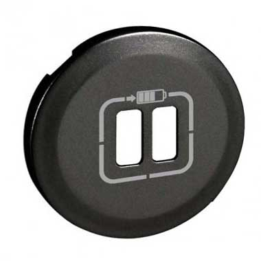 LEGRAND Céliane Enjoliveur prise USB double graphite - 067956