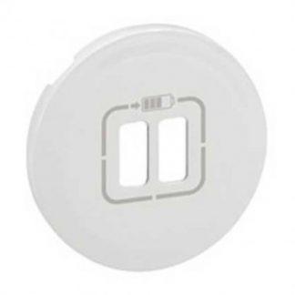 LEGRAND Céliane Enjoliveur prise USB double blanc - 068256