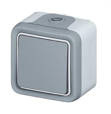 LEGRAND Plexo Bouton poussoir étanche complet gris IP55 - 069720
