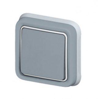 LEGRAND Plexo Interrupteur va et vient étanche complet encastré gris IP55 - 069811