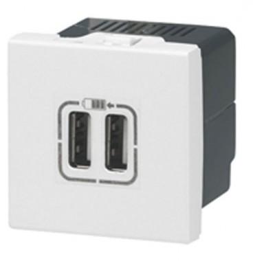 LEGRAND Mosaic Prise USB double 2400 mA blanc - 077594