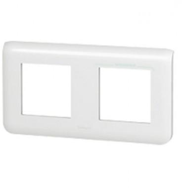 LEGRAND Mosaic Plaque double horizontale Blanc - 078804