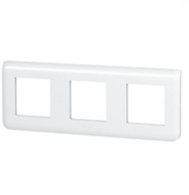 LEGRAND Mosaic Plaque triple horizontale Blanc - 078806