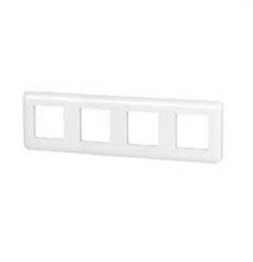 LEGRAND Mosaic Plaque quadruple horizontale Blanc - 078808