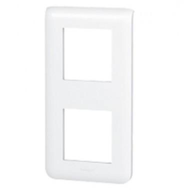 LEGRAND Mosaic Plaque double verticale blanc - 078822