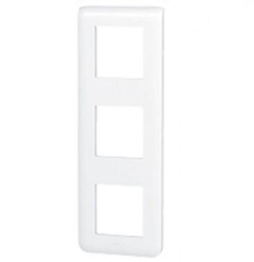 LEGRAND Mosaic Plaque triple verticale Blanc - 078823