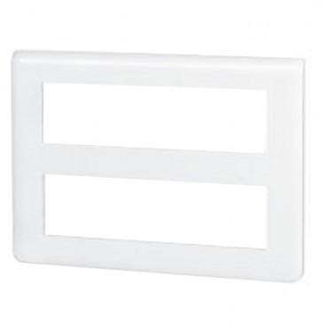 LEGRAND Mosaic Plaque horizontale 2x8 modules blanc - 078837