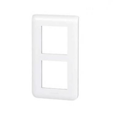 LEGRAND Mosaic Plaque double verticale Blanc E57 - 078854