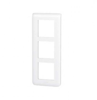 LEGRAND Mosaic Plaque triple verticale Blanc E57 - 078856